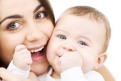 Chéri et maman image stock