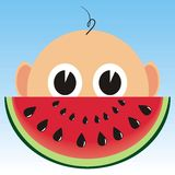 Chéri et melon Photos stock