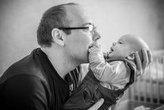 Chéri et père Image stock