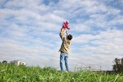 Chéri et père de mouche Photo stock