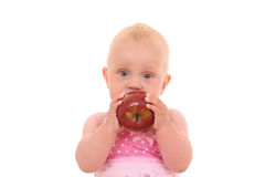 Chéri et pomme Photo stock