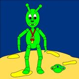 Chéri extraterrestre illustration libre de droits