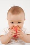 Chéri heureuse avec la pomme #21 Images stock