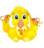 Chéri mignonne de lapin de dessin animé Photo libre de droits