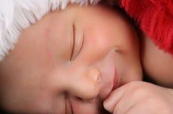 Chéri nouveau-née de Noël Images libres de droits