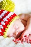 Chéri nouveau-née de Noël Image stock