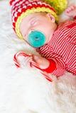 Chéri nouveau-née de Noël Photographie stock