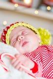 Chéri nouveau-née de Noël Photographie stock libre de droits