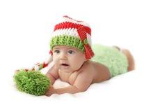 Chéri nouveau-née de Noël Photos stock