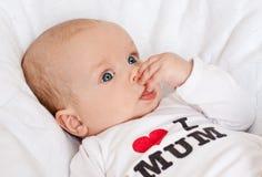 Chéri nouveau-née mignonne Photos stock