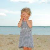 Chéri pleurante Image stock
