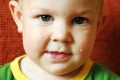 Chéri pleurante Photographie stock libre de droits