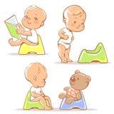 Chéri sur potty illustration libre de droits