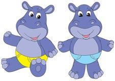 Chéris d'hippopotame Photos libres de droits