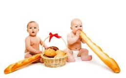 Chéris et pain Photos libres de droits