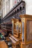 Chór wśrodku królewiątka ` s szkoły wyższa kaplicy, Cambridge obraz royalty free