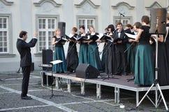 chórowy koncert Zdjęcie Stock