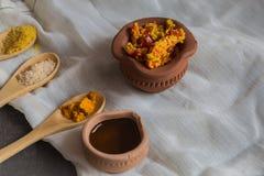 Chłodna zalewa Indiańska zalewa - Domowy robić Gujarati - Fotografia Royalty Free