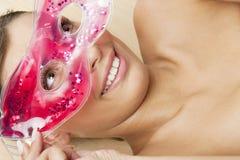 chłodnicza facial maski kobieta zdjęcia royalty free