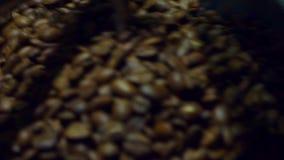 Chłodnicze kawowe fasole po piec Prażak maszyna, zakończenie, zwolnione tempo zbiory