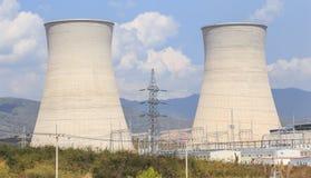 Chłodniczy wierza elektrownia nuklearna w Asia Obrazy Royalty Free