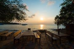 Chłodno śniadanie przy wyspą Obrazy Royalty Free