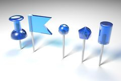 Chłodno błękita 3D szpilki ilustracja wektor