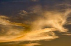 Chłodno chmury nad Bethany plażą Obrazy Royalty Free