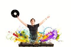 Chłodno DJ bawić się muzykę Zdjęcia Royalty Free