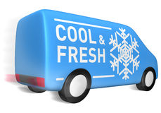 chłodno doręczeniowy świeży samochód dostawczy Zdjęcie Stock