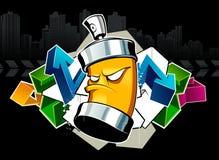chłodno graffiti Zdjęcia Stock