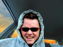 Chłodno hoodie faceta kierowca obrazy stock
