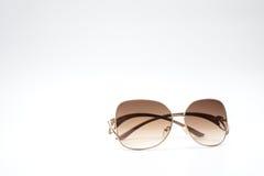 Chłodno i modni round okulary przeciwsłoneczni z rocznika koloru stylami odizolowywającymi Zdjęcie Royalty Free