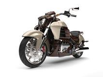 Chłodno kruszcowy czekoladowy nowożytny potężny siekacza rower Zdjęcie Stock