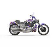 Chłodno purpur ciężki rower ilustracja wektor