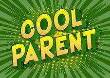 Chłodno rodzic - komiksu stylu słowa ilustracja wektor