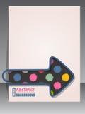 Chłodno scrapbook pokrywa z strzałkowatą segregator klamerką Obrazy Stock