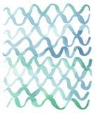 Chłodno Stonowana Abstrakcjonistyczna Squiggle akwareli wzoru ilustracja ilustracja wektor