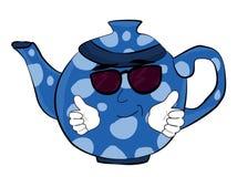 Chłodno Teapot kreskówka Zdjęcie Royalty Free