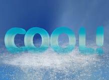 chłodno tekst Obrazy Stock