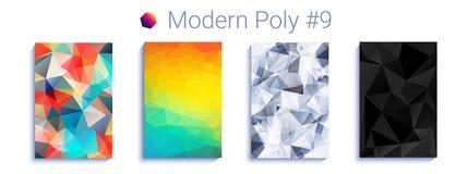 Chłodno trójgraniasty gradientowy tło Nowożytny abstrakcjonistyczny geometryczny wzór Jaskrawa colorfull tapeta wektor ilustracja wektor