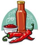 chłodny ketchup ilustracja wektor