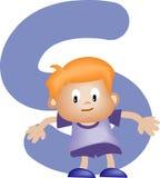 chłopak jest literę alfabetu Fotografia Stock