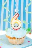 chłopak jest szóstym urodzinowy Obraz Royalty Free