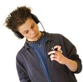 chłopak słucha obraz royalty free