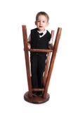 chłopak się mała sztuki stolca zdjęcie stock