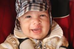 chłopak trochę się uśmiecha Obraz Stock
