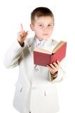 chłopak ubrany księgowej nawet że czytałam w dźwigu, Fotografia Royalty Free