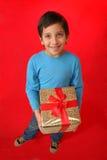 chłopcy święta prezent Zdjęcia Stock