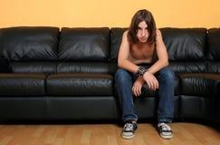chłopcy 2 przygnębienie nastolatków. zdjęcia royalty free